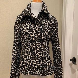 Leopard pea coat